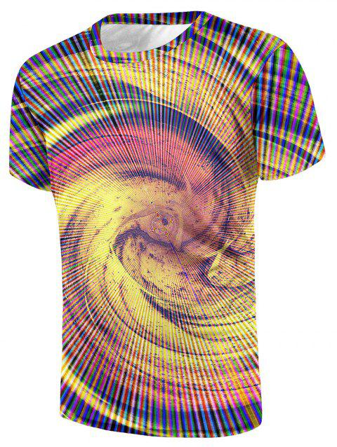 Volution Printed Casual Tee Shirt - multicolor S