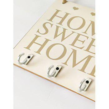Wood Sweet Home Sign Hanging Home Decoration - BEIGE