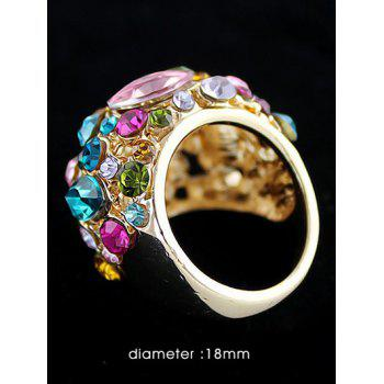 Diamond Embellished Vintage Fancy Rings - GOLD ONE-SIZE