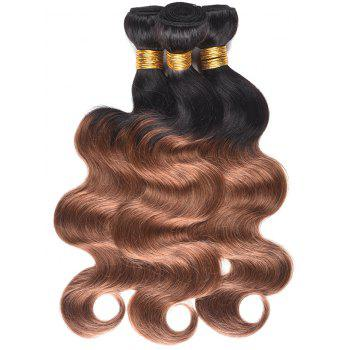 Color Block Human Hair Body Wave Hair Weaves - multicolor 22INCH*22INCH*22INCH
