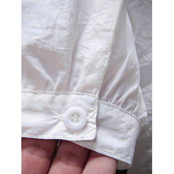 Two Pockets Raglan Sleeve Sunscreen Jacket - WHITE XL