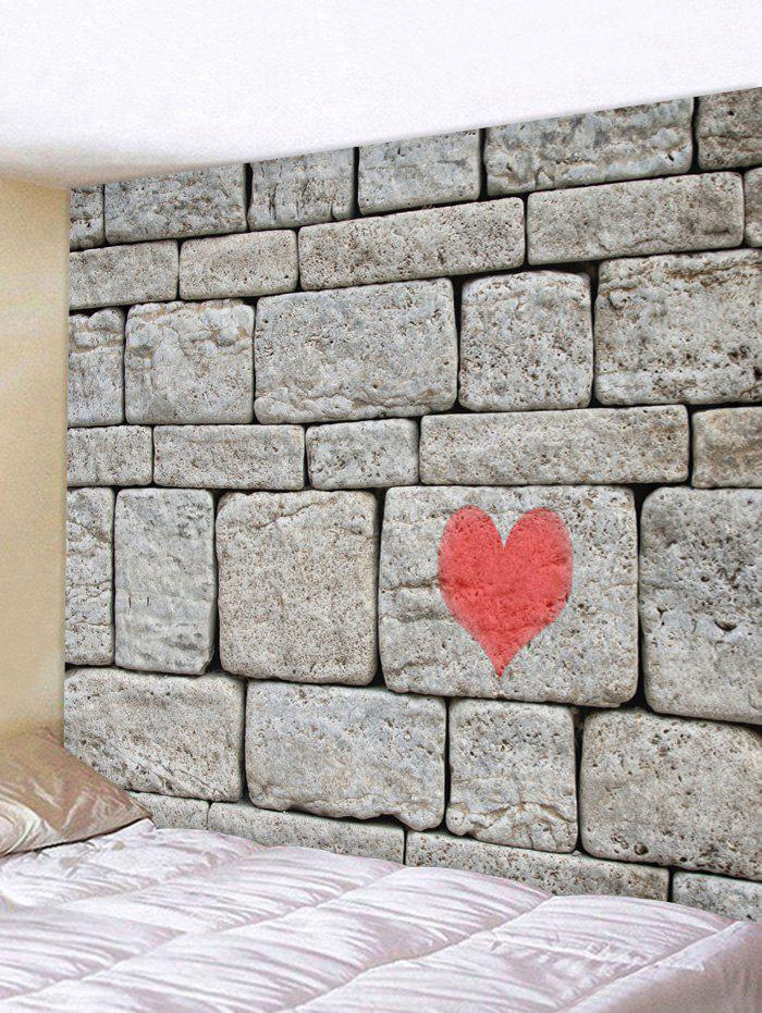 Rocks Wall wiht a Heart Print Wall Hanging Decor Tapestry