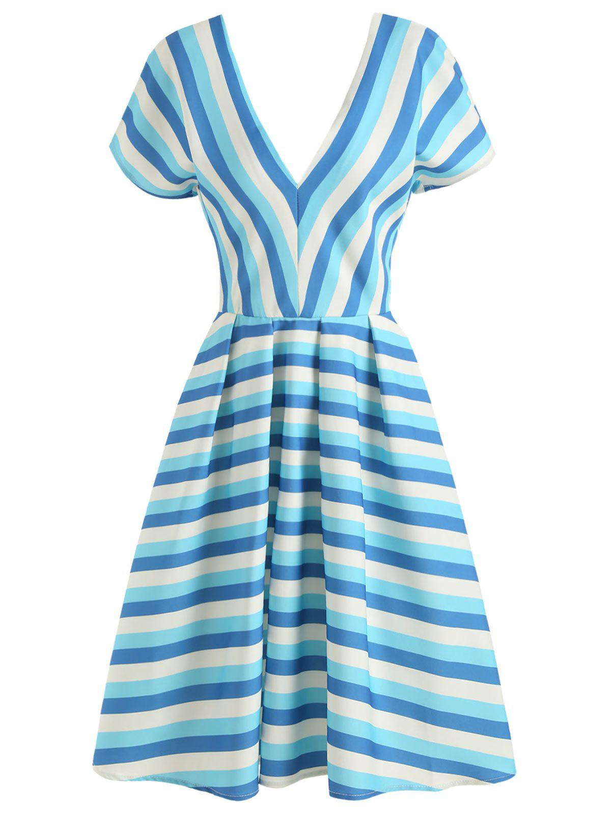 Striped Vintage A Line Dress
