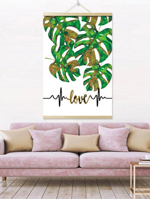 Tropical Leaves Print Wall Hanging Canvas Painting - GREEN 1PC:16*24 INCH( NO FRAME )