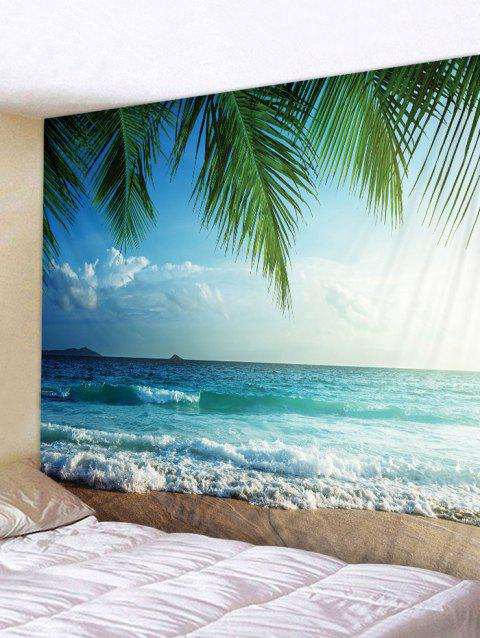 Beach View Print Wall Hangings Tapestry - multicolor W91 INCH * L71 INCH