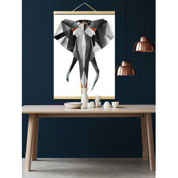 Geometric Elephant Print Wall Hanging Canvas Painting - multicolor 1PC:16*24 INCH( NO FRAME )