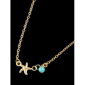 Starfish Charm Anklet - GOLD