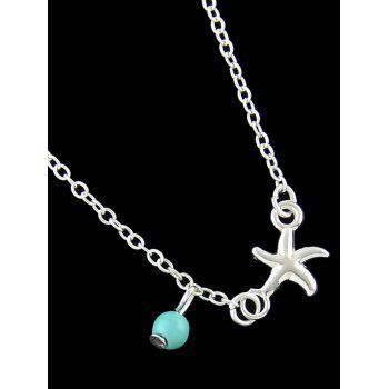 Starfish Charm Anklet - SILVER