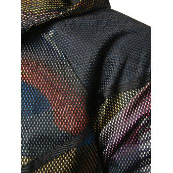 Mesh Camouflage Pattern Hooded Jacket - CAMOUFLAGE GREEN M