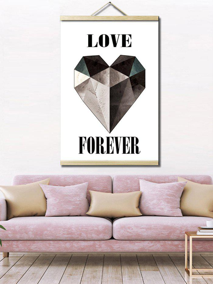 Love Heart Print Wall Hanging Canvas Painting - multicolor 1PC:16*24 INCH( NO FRAME )