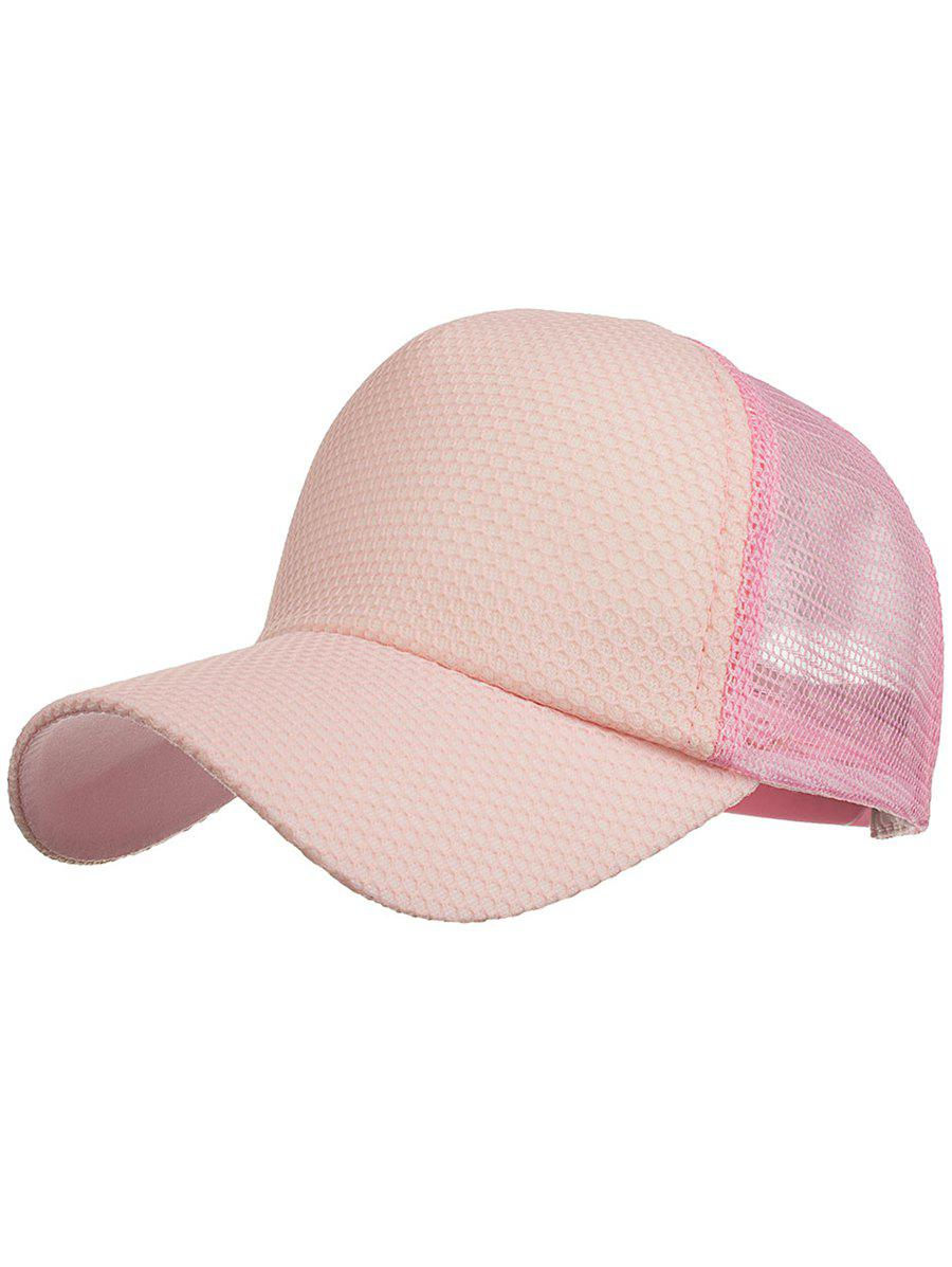 Outdoor Solid Color Mesh Sport Hat - PINK