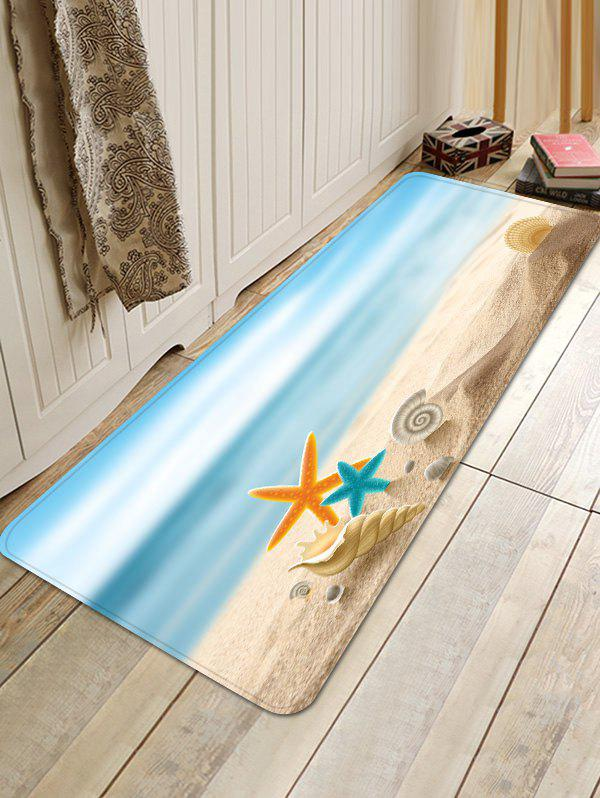 Starfish Conch Beach Print Non Slip Floor Rug sunny beach starfish conch anti skid floor area rug