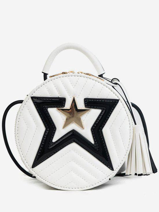 Round Shaped Stars Tassels Stitching Crossbody Bag машинка детская купить
