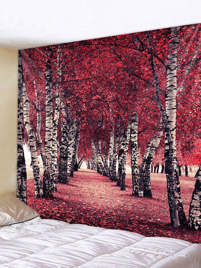 Maple Leaf Forest Print Tapestry Wall Hanging Decor wall hanging art decor maple forest print tapestry