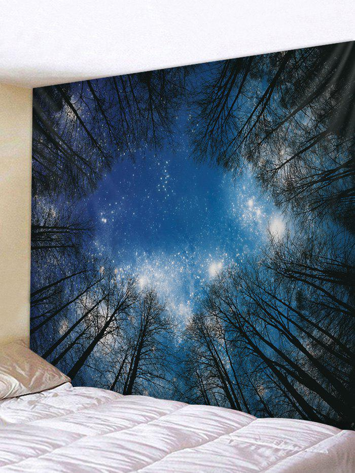 Sky Forest Print Tapestry Wall Hanging Decor wall hanging art decor sky forest print tapestry