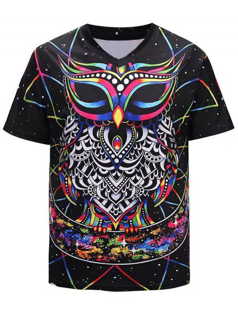 fead84a8d0d6 41% OFF  2019 Animation Owl 3D Print Casual T-Shirt In multicolor M ...