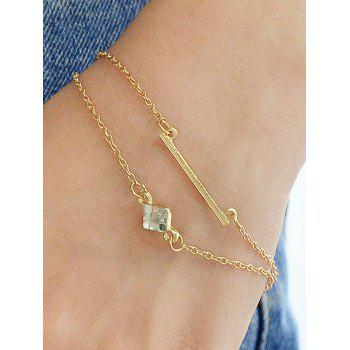 Rhinestone Key Design Geometric 6Pcs Chain Bracelets - GOLD