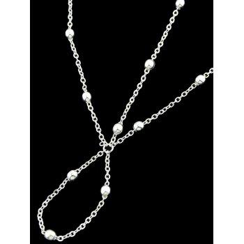 Small Bells Toe Chain Link Foot Anklet - SILVER
