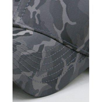 Lightweight Camouflage Adjustable Baseball Hat - GRAY