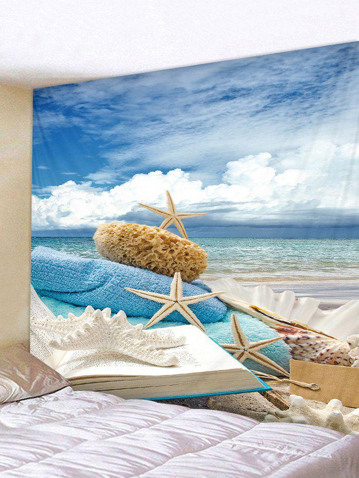 Starfish Shell Beach Print Tapestry Wall Hanging Decor lace shell starfish beach anklets