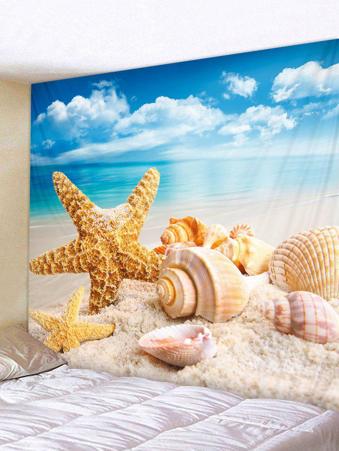 Starfish Shell Beach Printing Tapestry Wall Decoration lace shell starfish beach anklets