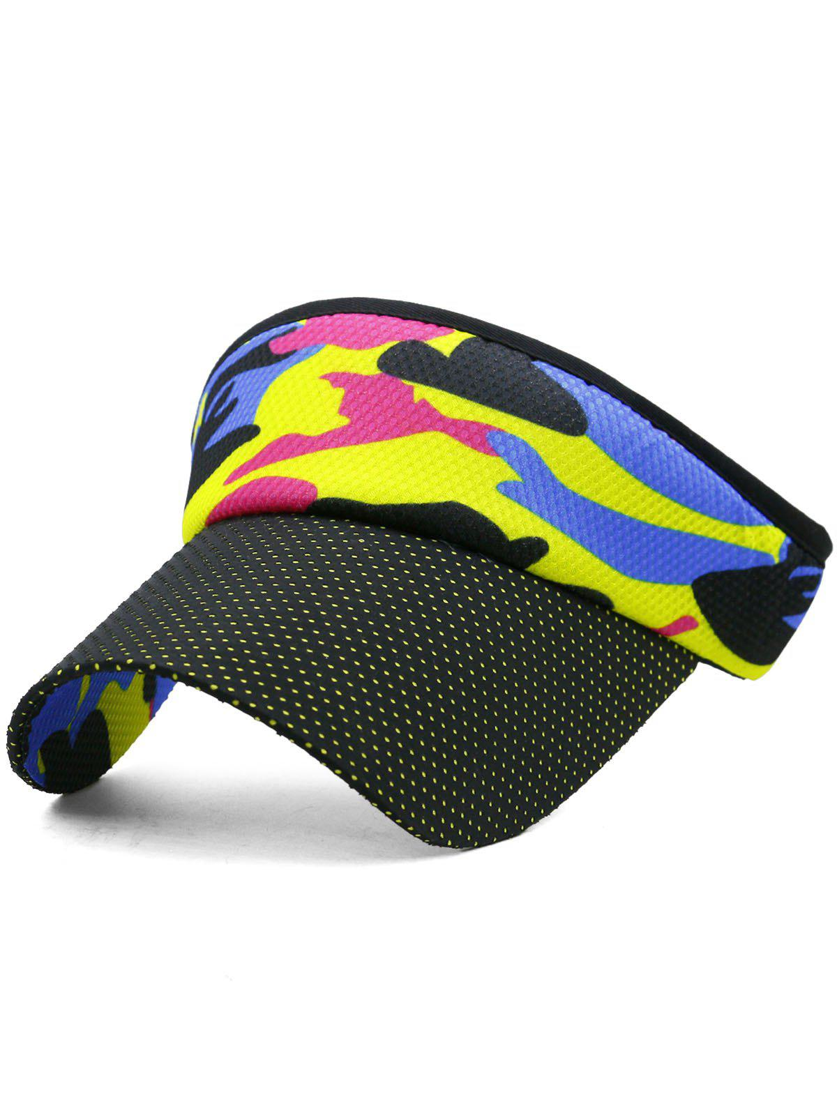 Camouflage Open Top Sport Hat - multicolor B