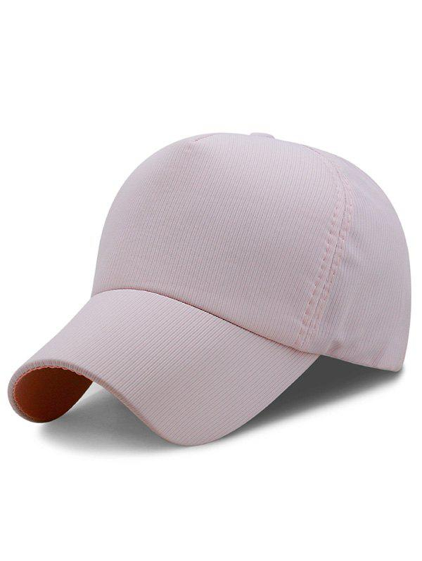 Lightweight Solid Color Adjustable Sport Hat - LIGHT PINK
