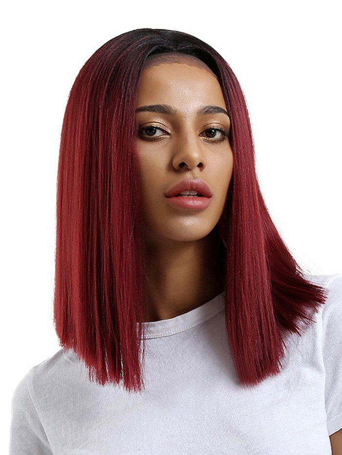 Medium Center Parting Straight Ombre Synthetic Lace Front Wig iwona synthetic hair lace front long straight orange ombre wig
