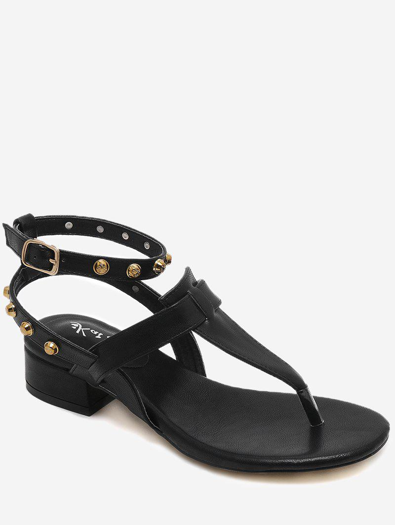 Ankle Strap Rivets Low Heel Thong Sandals xaxbxc 2018 summer retro british style brogues leather white ankle strap low heel womens sandals handmade ladies casual shoes