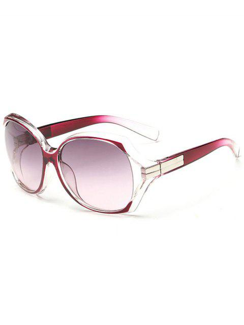 Anti UV Hollow Out Frame Oversized Sunglasses - VIOLET RED