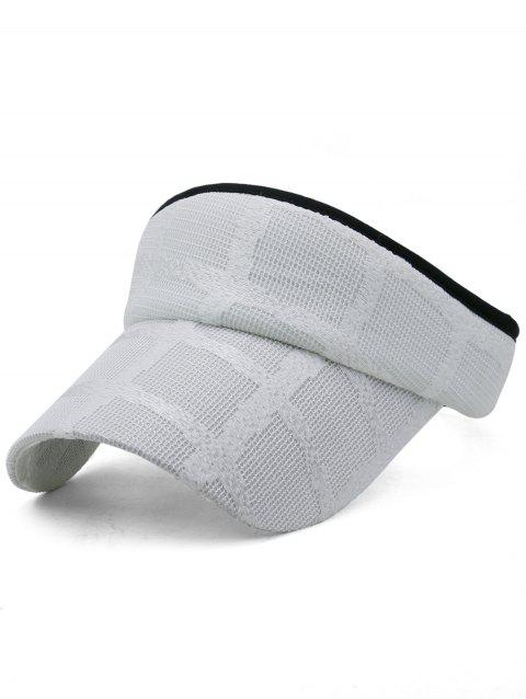 Unique Plaid Pattern Open Top Sunscreen Hat - WHITE