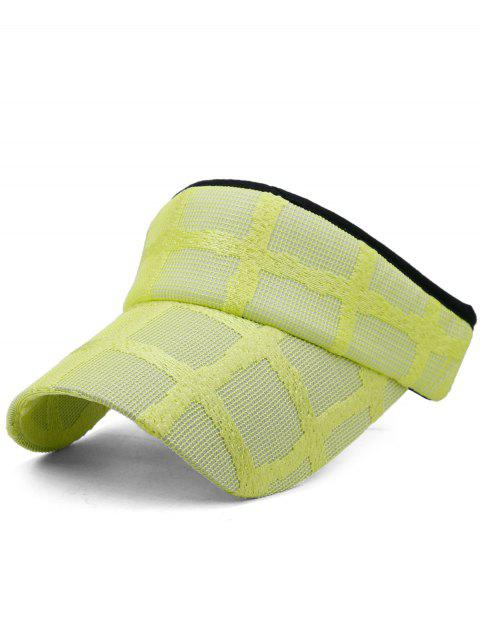 Unique Plaid Pattern Open Top Sunscreen Hat - YELLOW
