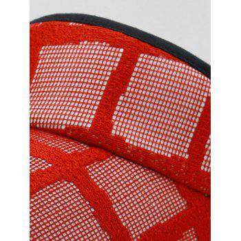 Unique Plaid Pattern Open Top Sunscreen Hat - LOVE RED