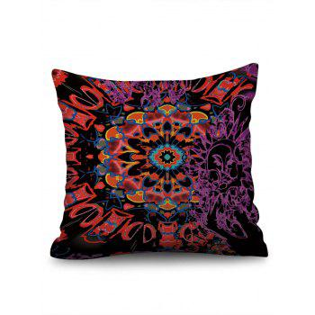 Abstract Mandala Print Linen Sofa Pillowcase - multicolor W18 INCH * L18 INCH