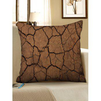 Cracked Ground Print Linen Sofa Pillowcase - multicolor W18 INCH * L18 INCH