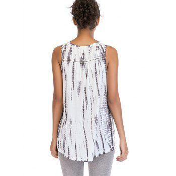 Ombre Print Sleeveless Top - VAMPIRE GRAY L