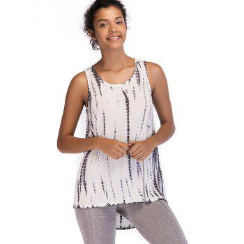 Ombre Print Sleeveless Top - VAMPIRE GRAY S