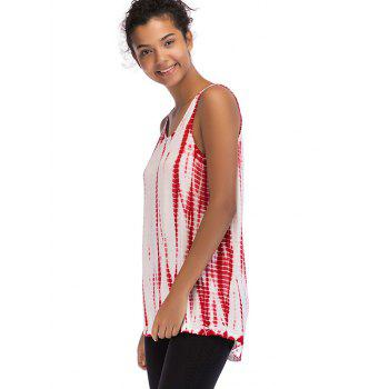 Ombre Print Sleeveless Top - RED WINE M