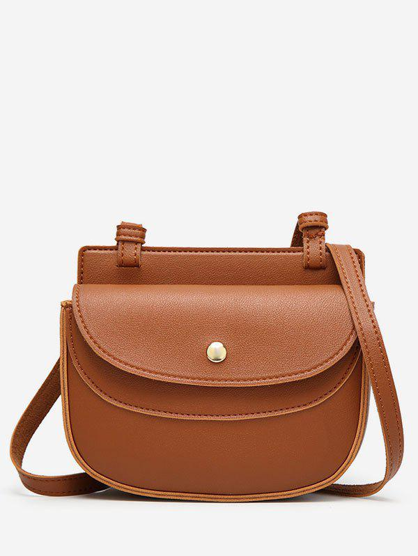 Dresslily Chic Minimalist Faux Leather Sling Bag