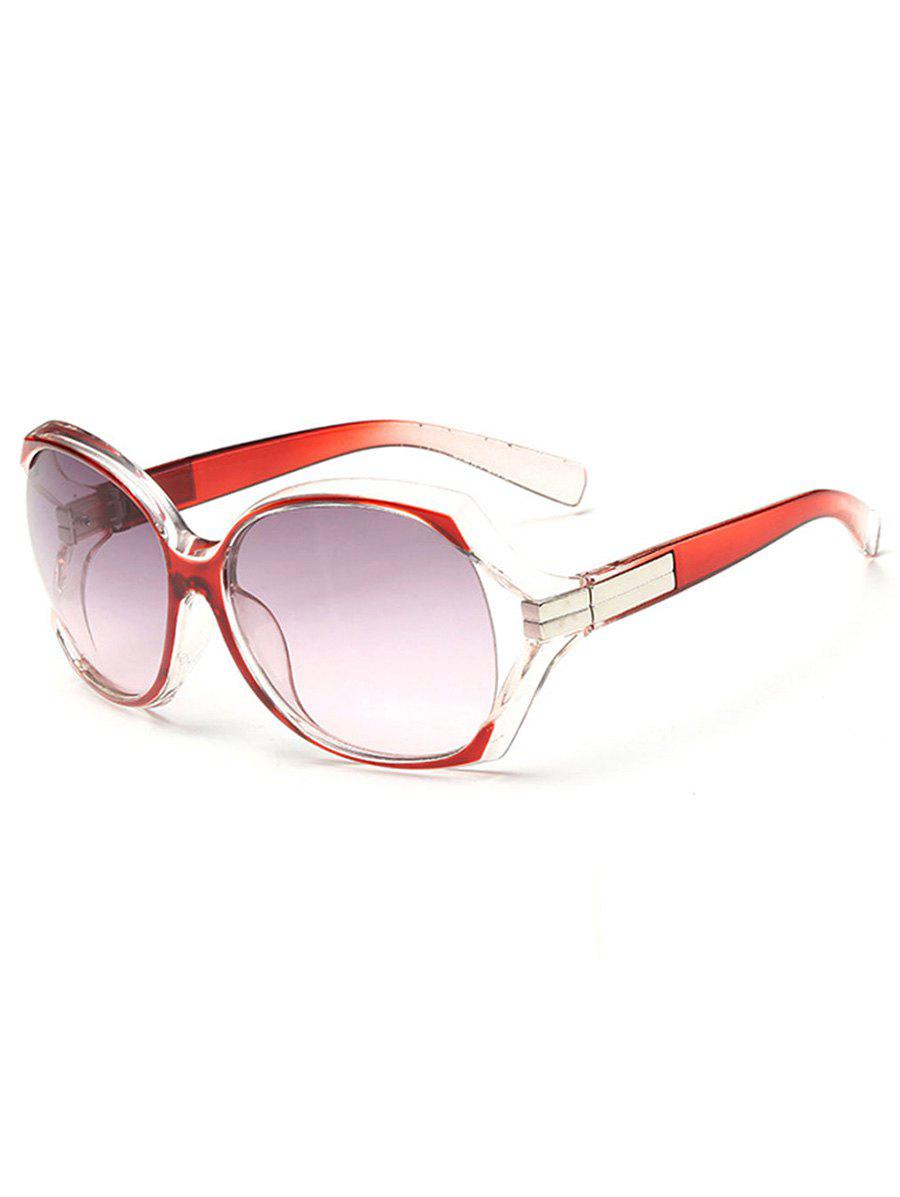 Anti UV Hollow Out Frame Oversized Sunglasses - CARNATION PINK