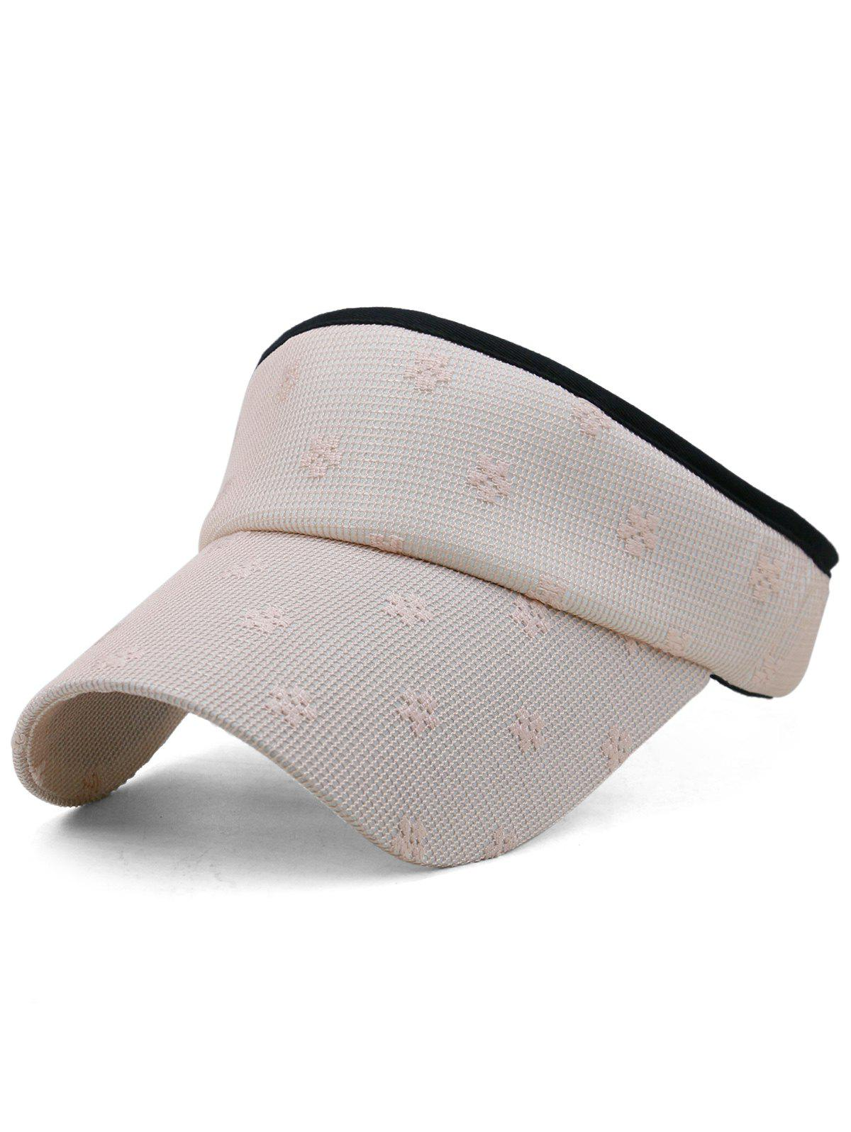 Flourishing Floral Open Top Sport Hat - LIGHT PINK