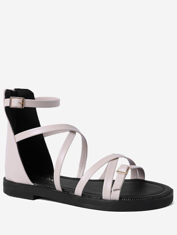 Casual Strappy Criss Cross Ankle Strap Sandals