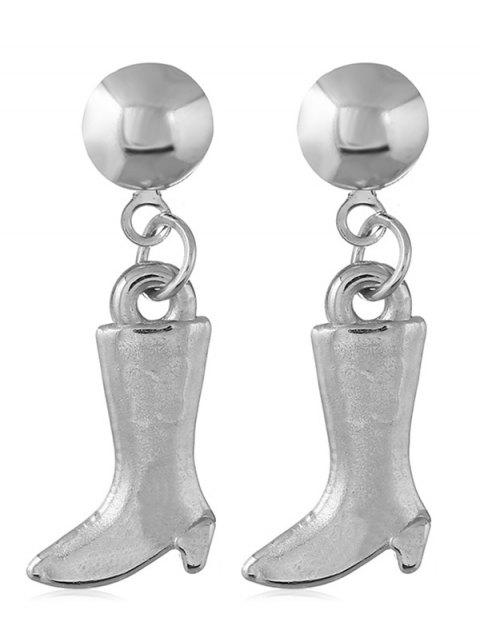 Medium Boots Design Dangle Earrings - SILVER