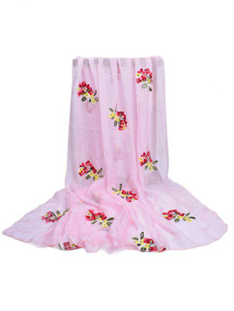 Vintage Floral Pattern Party Event Travel Scarf - LIGHT PINK