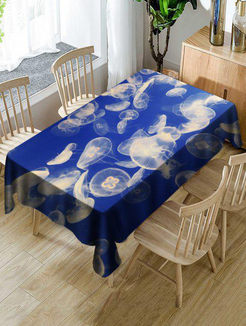 Jellyfish Pattern Waterproof Table Cloth - BLUE W60 INCH * L84 INCH
