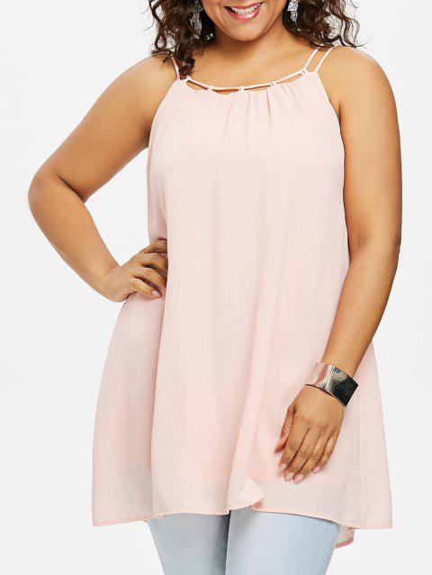 Plus Size Ethereal Cami Tank Top - LIGHT PINK 4X