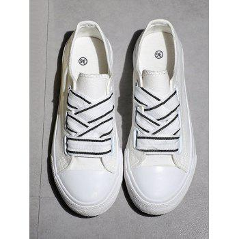 Casual Outdoor Lightweight Walking Sneakers - WHITE 39
