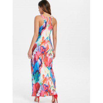 Colorful Print Maxi Tank Dress - multicolor XL