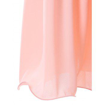 Sequin Insert Prom Dress - PINK M