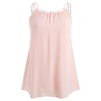 Plus Size Ethereal Cami Tank Top - LIGHT PINK 3X